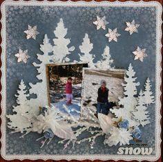 Snow **Swirlydoos** - Scrapbook.com  Beautiful page