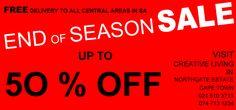 End of Season sales End Of Season Sale, Outdoor Furniture, Creative, Home Decor, Decoration Home, Room Decor, Home Interior Design, Backyard Furniture, Lawn Furniture