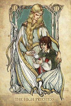 The High Priestess. LotR Tarot Cards
