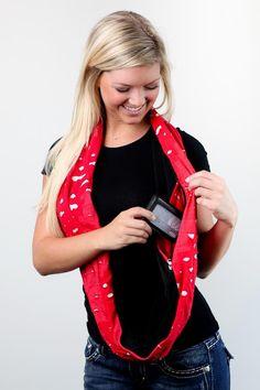 ORIGINAL Premium | Torn Red Clutch Wrap™ purse