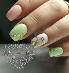 Beautiful nail art designs that are just too cute to resist. It's time to try out something new with your nail art. Nail Art Designs, Nail Designs Spring, Spring Nails, Summer Nails, Trendy Nails, Cute Nails, Hair And Nails, My Nails, Uñas Fashion
