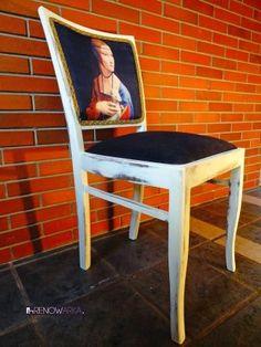 Krzesło Dama z Łasiczką PRL 70's w RENOWARKA na DaWanda.com