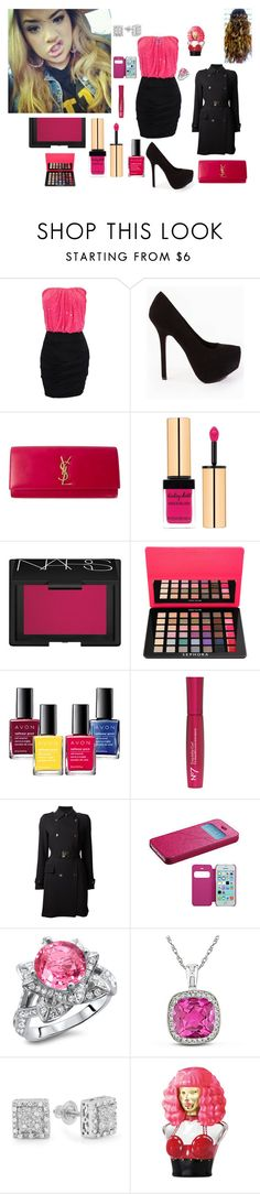 """""""That Was 4 Shots Ago.Now You Can't Believe You Did It With Me But You Wasn't Saying That LAST NIGHT.!"""" by rckstarbby2k15 ❤ liked on Polyvore featuring Yves Saint Laurent, NARS Cosmetics, Sephora Collection, Avon, Boots No7, Versace, Miadora and Nicki Minaj"""