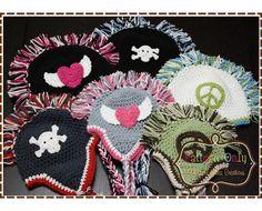 Mohawk Hat Crochet Pattern - MADDOX - 302