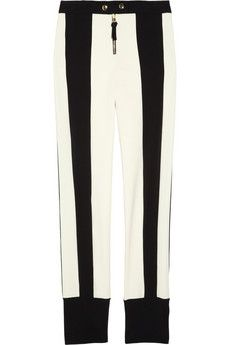 Marni contrast stripe gabardine pants - to make if I find the patience to colorblock