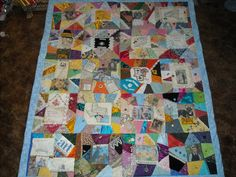 My crazy photo quilt made by wonderful mother in law
