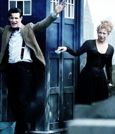Could these two be any more married than they so obviously are? I love how River Loves the Doctor and The Doctor quietly loves her back