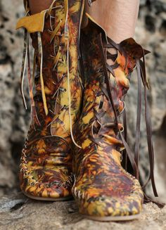 Galaxy Leather Ankle Boots