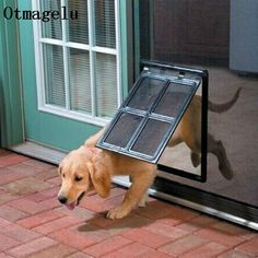 Diy Doggie Door, Pet Door, Pet Screen Door, Screen Doors, Window Screens, Best Dog Door, Pallet Dog Beds, Gate Way, Window Security