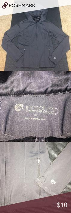 New York & Co Inmotion hoodie Slate grey hoodie in great condition New York & Company Tops Sweatshirts & Hoodies