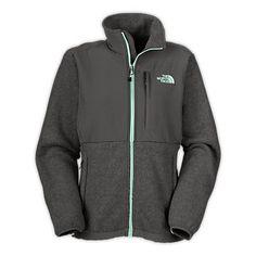 Shop Women's Fleece Denali Jacket - The North Face. Grey/mint green zipper