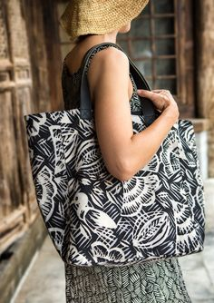 """""""Ibis"""" bag in cotton – Accessories – GUDRUN SJÖDÉN – Webshop, mail order and boutiques 