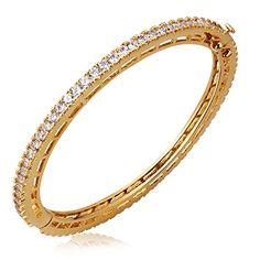 K-DESIGN : Bracelet New Fashion Women Classic Round Shape Bangle Top Grade Austrian Crystal Free Allergy Plated Marriage Anniversary >>> Click image to review more details.