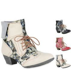 6442523ed9e58 896141 TMA MAIA Damen Schnürstiefeletten Leder Boots Print Stiefeletten New  Look