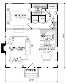 Backyard Bungalow by William E. Poole. 952 sq ft, mother in law cottage for backyard.