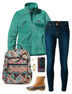 """""""School starts back on Monday... """" by sc-prep-girl ❤ liked on Polyvore featuring Patagonia, 7 For All Mankind, L.L.Bean, Vera Bradley, Kate Spade and Isaac Mizrahi"""