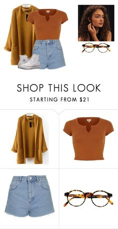 """Untitled #505"" by kawiwi on Polyvore featuring WithChic, Topshop, François Pinton and Converse"