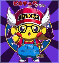 Arale by fer-gon on DeviantArt Eve Pokemon, Pokemon One, Pokemon Umbreon, Pikachu Art, Pokemon Fusion, Kingdom Hearts Quotes, Disney Pumpkin Carving, Cute Cartoon Drawings, Japanese Cartoon