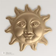 3D Model merry sun for visualization and production on CNC machines.
