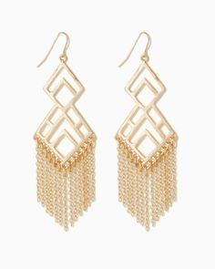 charming charlie | Diamond Fringe Earrings | UPC: 410006698895 #charmingcharlie