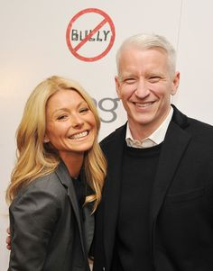 Anderson Cooper with Kelly Rippa