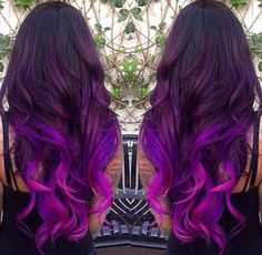 Amazing Purple Ombre Hair Ideas a few years ago, if you thought purple hair … - Hair Women Beauty 2015 Hair Color Trends, Hair Trends, Dye My Hair, Ombre Hair Color, Ombre Style, Pastel Ombre Hair, Bright Purple Hair, Blue Purple Hair, Purple Dye