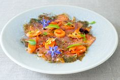 photo of Pickled Summer Carrot, Salmon Gravadlax and Borage