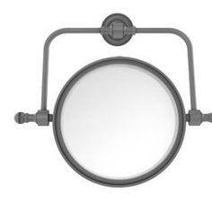Allied Brass Retro Dot x Matte Gray Double-Sided Magnifying Wall-Mounted Vanity Mirror at Lowe's. Add this stylish wall mounted makeup mirror to your bathroom décor for an elegant touch. Makeup and shaving mirror pivots and tilts to allow for complete Wall Mounted Makeup Mirror, Lighted Wall Mirror, Led Mirror, Mirror Glass, Traditional Bathroom Mirrors, Retro Waves, Lighting Sale, Messing, Side Wall