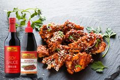 Add a twist to pork by using Lee Kum Kee Soy Sauce and Sriracha BBQ sauce as a yummy glaze!