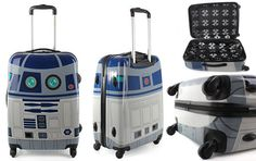 Star Wars R2-D2 rolling suitcase. Need one of these!