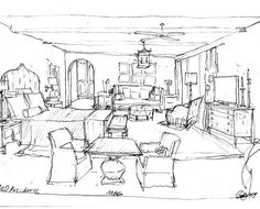 Interior Design Bedroom Sketches Fair Also Did A Quick Sketch Of The Space To Give My Client An Idea Of Design Ideas