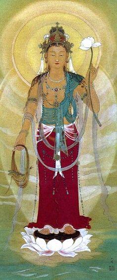 Kannon, the Japanese bodhisattva of compassion