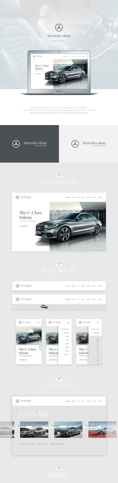 A modern, ultra minimal look for one of the world's most iconic car brand.I have created this concept to explore an alternative visual language for the brand - to present these exceptionally well made vehicles on an elegant and highly precise way.