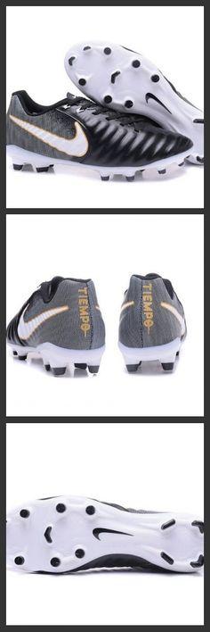 new arrival 0a6cb 913d2 2017 Uomo Nike Tiempo Legend 7 FG scarpe da calcio Nero Bianco Per offrire  una vestibilità
