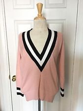 Nasty Gal Pink Black White Boys Club Varsity Knit Sweater Size XS in Clothing, Shoes & Accessories, Women's Clothing, Sweaters | eBay