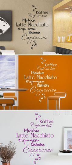 Fancy Kaffee Design Wandtattoo