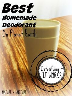 Homemade Deodorant That Works: Best on Planet Earth! This homemade deodorant is the best (and easiest) DIY deodorant ever! An all natural deodorant recipe with coconut oil, bentonite clay, & essential oils. Diy Deodorant, Deodorant Recipes, All Natural Deodorant, Coconut Oil Deodorant, Piel Natural, Homemade Cosmetics, Homemade Beauty Products, Natural Products, Body Products