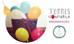 MiniFactory: Tennis gonfiabile #30giornidiestate DIY giochi bambini in casa e all'aria aperta! Tennis balloons!