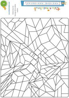 Magic Coloring 1: lozenges - Color all the diamonds.