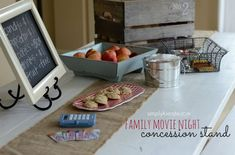 Family movie night with concession stand | simplykierste.com ... my kids LOVE this!