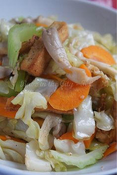 Mixed Vegetables and Tofu Stir Fry by babe_kl, via Flickr