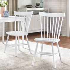 Shop Simple Living Venice Dining Chairs (Set of 2) - On Sale - Overstock - 8757307 - White