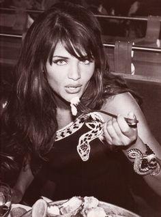"https://flic.kr/p/K5nx1U | Vogue Italia ""La Notte delle Stelle"" 1992 Sett. 1992 (5) | Helena Christensen in Valentino Couture shot by Arthur Elgort"