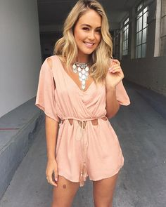 Pretty peachy playsuit have landed online tonight! Who is heading to Coachella? Festival fashion has hit! Shop link in bio!