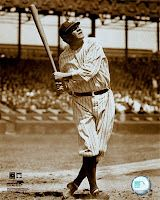 Must get Babe Ruth pic for boys room: Aidan would love it!