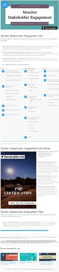 PMP Certification: Monitor Stakeholder Engagement (based on PMBOK® Guide, Edition) Agile Project Management Tools, Project Management Certification, Project Management Templates, Pmp Exam, Online Courses, Certificate, Engagement, Monitor, Software