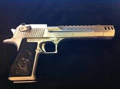 Desert Eagle 50 Cal.  I have wanted one of these since the early 90's--totally impractical but I like it.