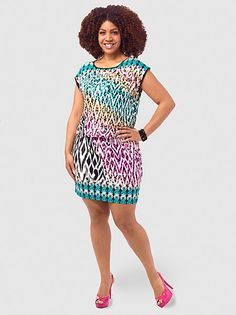 Printed Drop-Waist Dress by Style&Co
