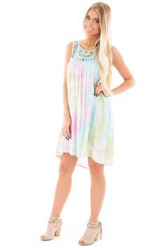 Lime Lush Boutique - Mint Tie Dye Yoke Detail Shift Dress, $46.99 (https://www.limelush.com/mint-tie-dye-yoke-detail-shift-dress/)