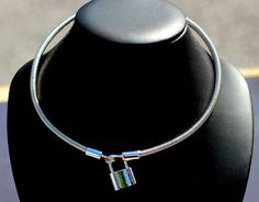 BDSM Day Collar-Sterling Silver Coiled Choker Collar by ErosMoon